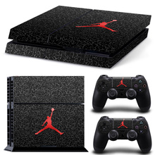 Basketball Legend Michael Jordan Red Air Logo MJ Cover Decal PS4 Skin Sticker for Sony Playstation Console & 2 Controller Skins