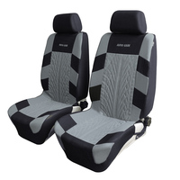 Auto Care Universal Car Seat Covers 9 PCS With Headrest Gray Blue Red 3 Colors For