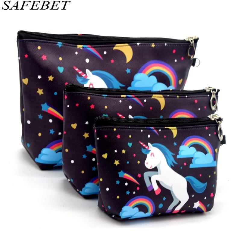 SAFEBET Bag Flamingo Cosmetic-Bag Organizer Big-Capacity Waterproof High-Quality Women