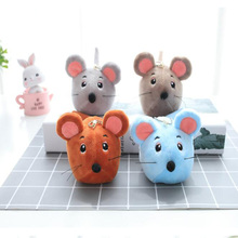 8CM Mini Plush Mouse Doll Soft Animal Pendant Ornament Toy Hamster Bag Key Ring Children Gift