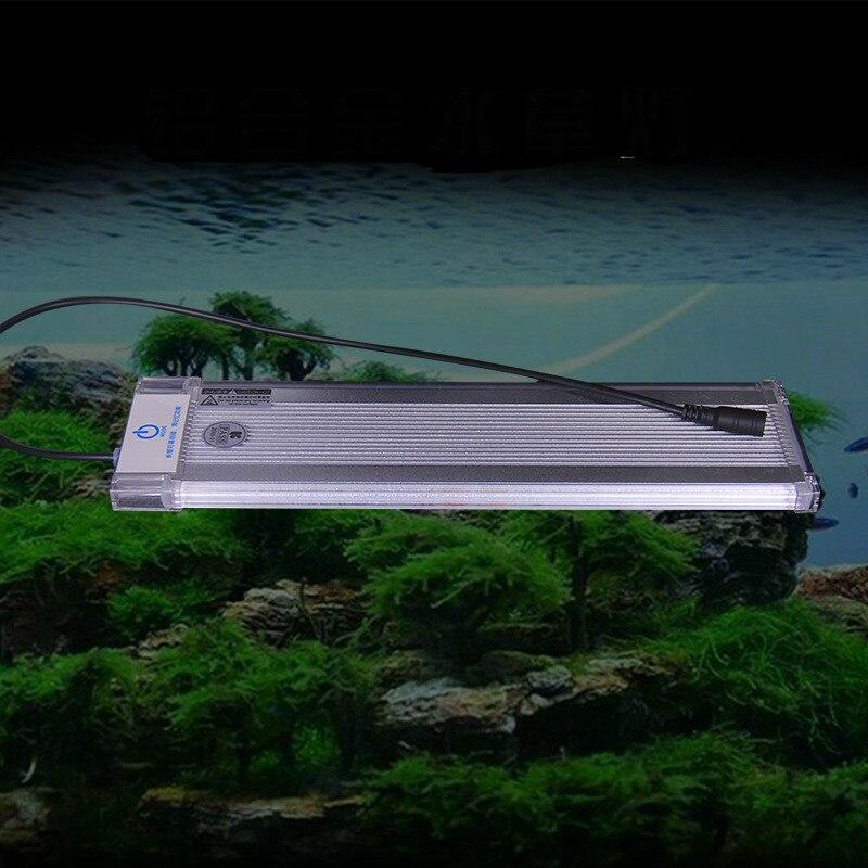 Aquarium Fish Tank Accessoires LED Éclairage Fish Tank Lumière Lampe avec Extensible Supports Adapte pour Fish Tank Décoration