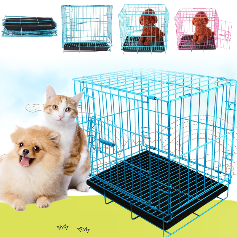 Foldable Collapsible Pet Cage for Dogs & Cats