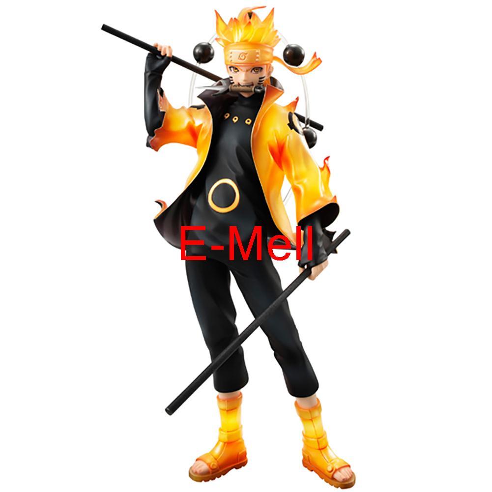 Naruto Cosplay Uzumaki Naruto Rikudo Sennin 18cm/7.1'' Middle PVC GK Action Figures Toys Sennin Modo Garage Kits аксессуары для косплея cosplay