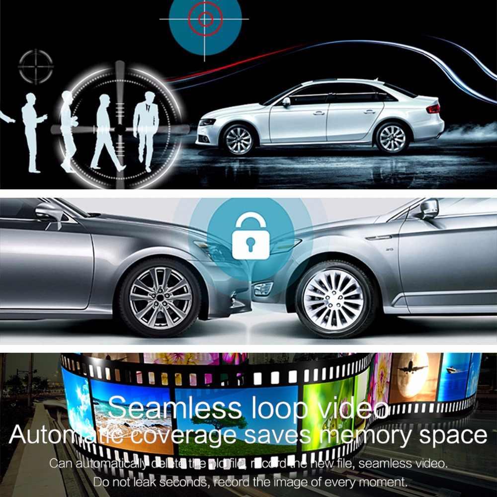 Автомобиль Камера DVR HD1080P Ночное видение прочный автомобиль Камера Двойной объектив противоударный Зеркало заднего вида автомобили Dvr правитель светодио дный сзади Камера