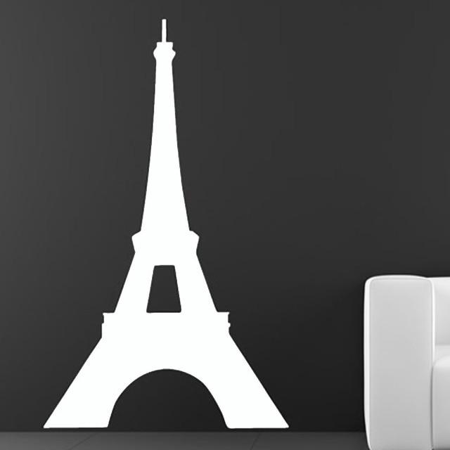 Hot Sale Paris Wall Sticker Eiffel Tower Home Decor Personalized Colors Design Wallpaper Vinyl Art Wall