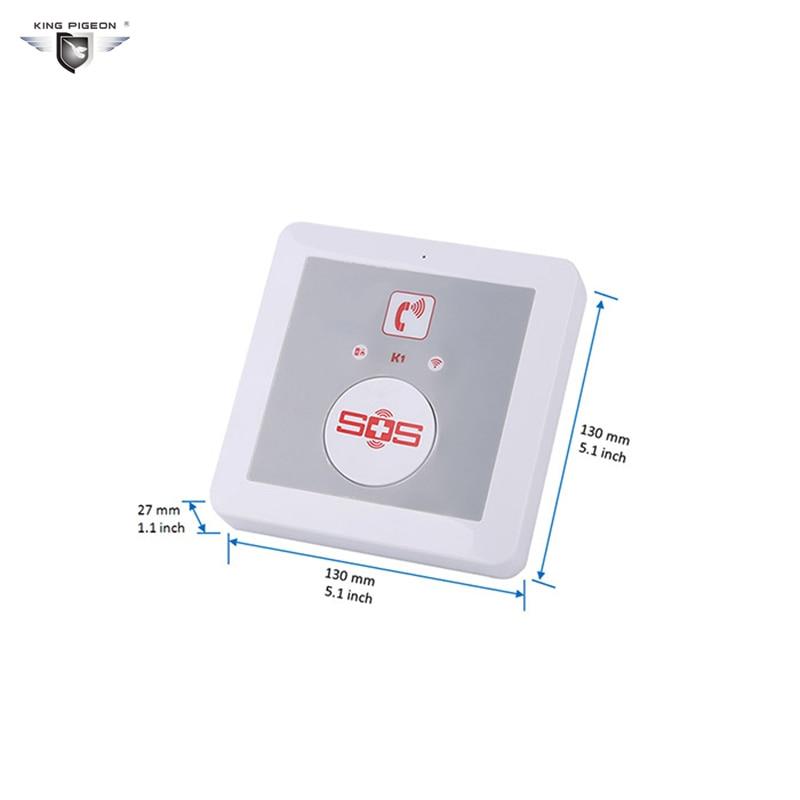 SOS Alarm Wireless GSM Dialer Android APP Elderly Alarm System Home Security SOS Panic Button Call SMS Controller Burglar K1  цены
