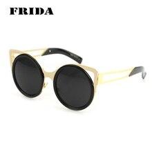 Frida moda 2016 Gafas De Sol mujeres diseñador De la marca Gafas Gafas De Sol mujeres vendimia del ojo De gato Gafas De Sol Feminino