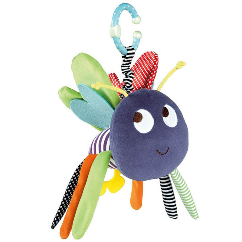 New Infant Newborn Baby Soft Bee Plush Toy Baby Pram Bed Bell Soft Hanging Baby Toys Animal Handbells Rattles Education Doll
