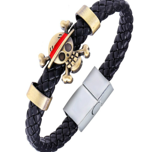 Leather Woven Magnetic Bracelet