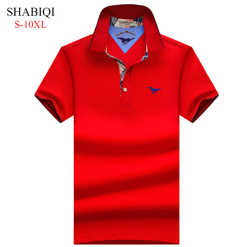 2018 Brand Clothing   Polo   Shirt Slim Solid Casual short sleeve   Polo   Homme For Men Tee Shirt Tops High Quality Cotton Shirt S-10XL