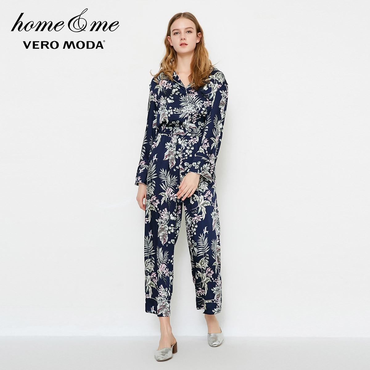Vero Moda 2019 Women's Spring & Summer Printed Straight Fit Crop Pajama Pants |3182P7503
