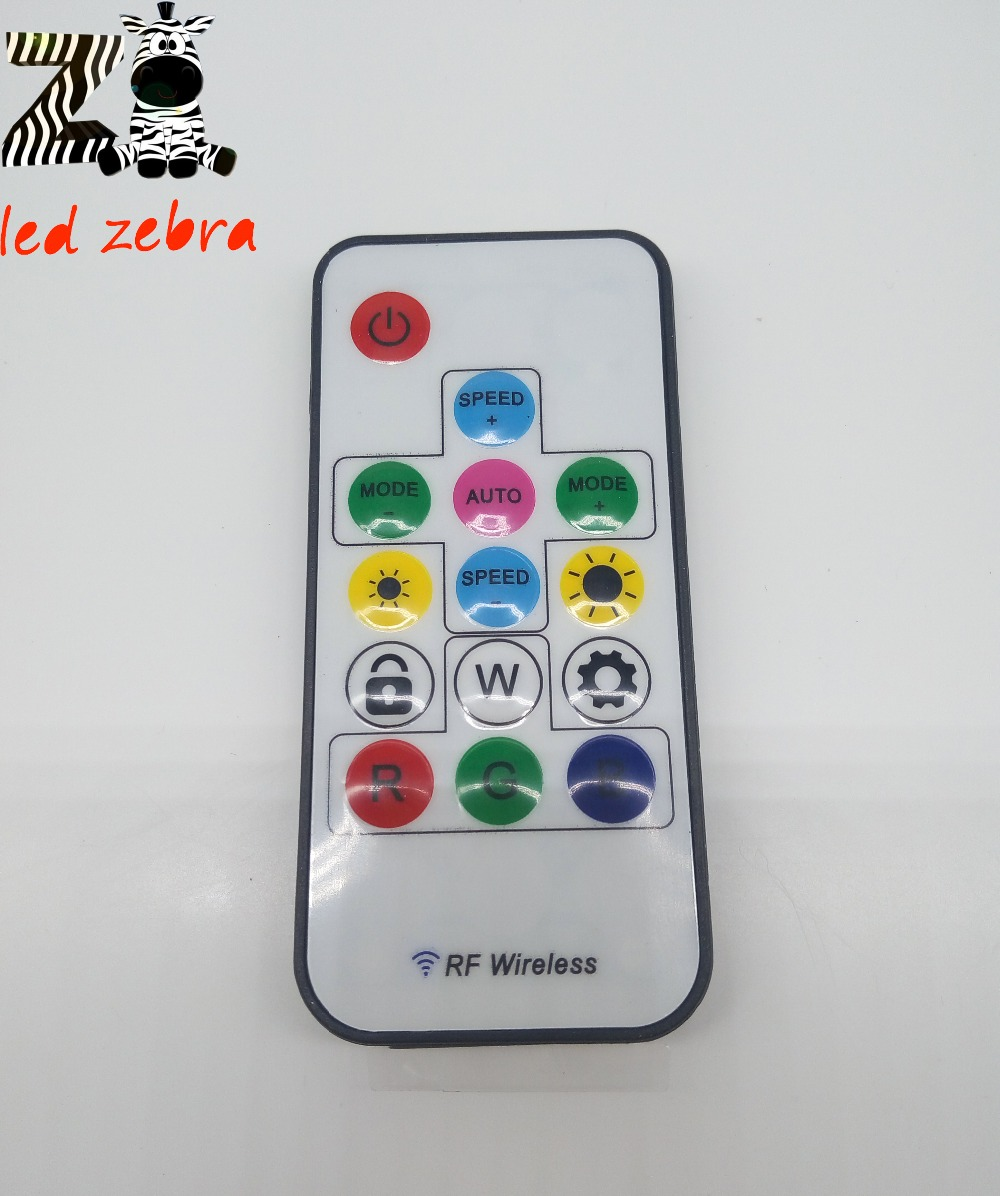 Remote Control+Wireless RF 14keys led RGB Controller 300kinds of change 2048 Pixels for WS2811 WS2812 WS2812B DC 5V