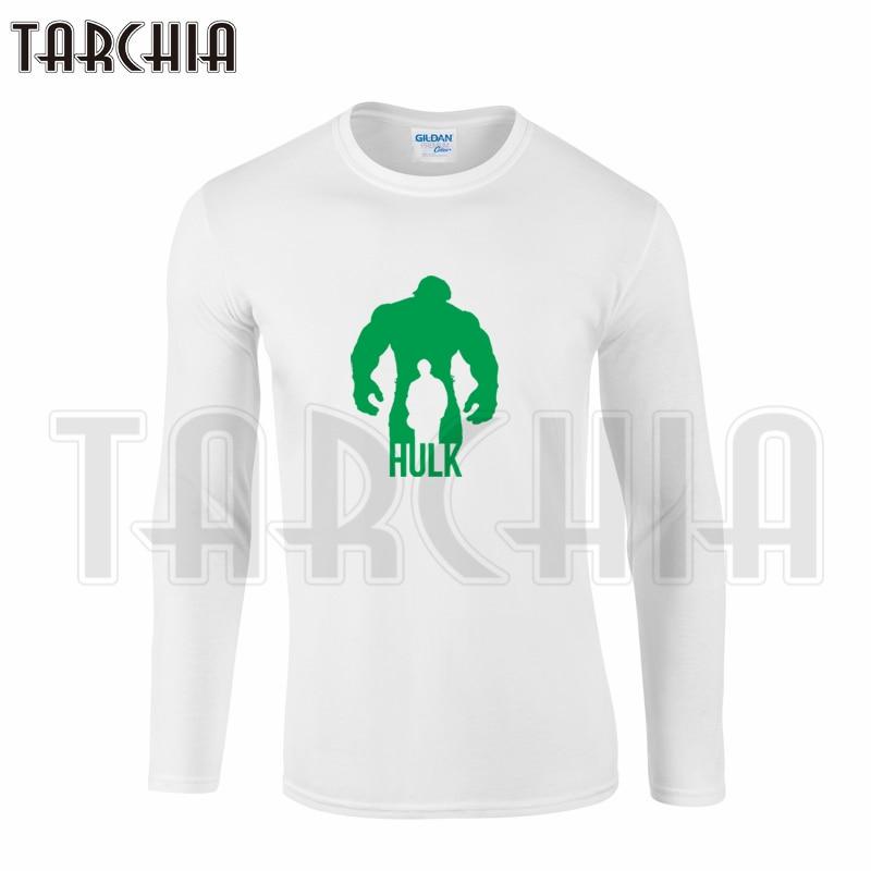 tarchiia men s long sleeve homme t shirt cotton tee plus size super hero avengers green hulk. Black Bedroom Furniture Sets. Home Design Ideas