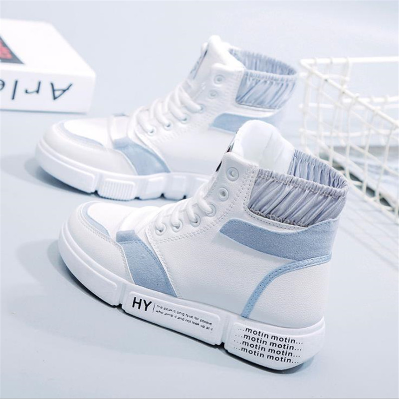 2019 Spring Canvas shoes Solid Lace up Shoes for Women Girls Causal Shoes White Shoes Women Sneakers S 310