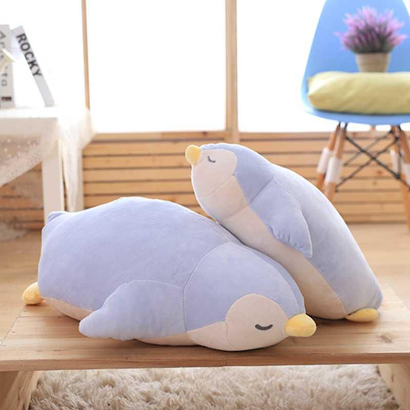 لطيف البطريق أفخم لعبة لينة وسادة المعزي وسادة دمية أريكة وسادة محشوة أفخم الحيوانات