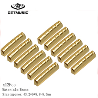 12PCS 6 String Slotted Brass Gold Plated Acousitc Guitar Nut Size 42*3*5.5 4.5mm