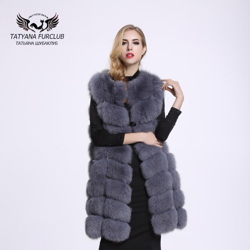 ୧ʕ ʔ୨100% real de piel de Fox Pieles de animales chaleco abrigos ...