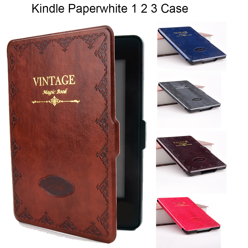 Smart Case for Kindle Paperwhite PU leather cover for Amazon 6 Paperwhite 1 2 3 2013 2015 2016 Magic Book Auto Sleep Wake up tablets case protective black magnetic auto sleep leather cover case for amazon kindle paperwhite 1 2