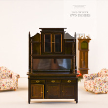 Doub K 1:12 dollhouse furniture toys wooden miniature fairy cabinet doll house pretend play toy gifts for girls children dolls