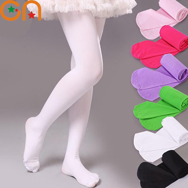 White Stockings Pantyhose Velvet Tights Dance Thin Ballet Girls Section Baby Black Kids