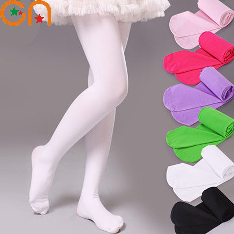 Girls Ballet Dance Pantyhose Children A Thin Section Fashion Velvet Tights Baby Solid Stockings For 0-12Y Kids CN