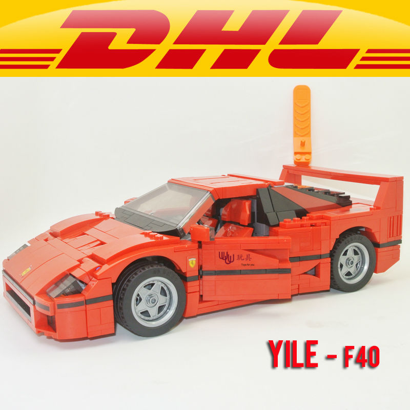 Yile 001 F40 Sports Car 1158pcs  Building Blocks lepin technic bricks 10248 action figure creator car toys for children 3d ручка feizerg f 001 green