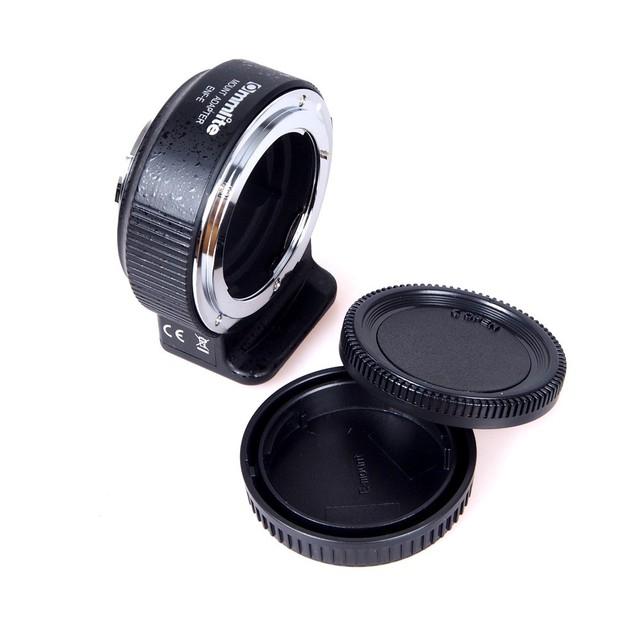 Commlite controle de abertura automática adaptador auto focus lens para sony e mount-lente da câmera para nikon af ai-g e. g a7ii a7rii a7mii a6300