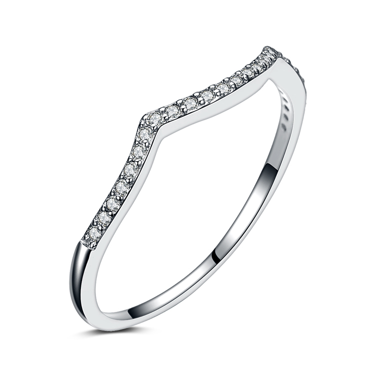 2016 New arrival hot sell fashion super shiny cubic zirconia 925 sterling silver ladies` finger rings jewelry gift