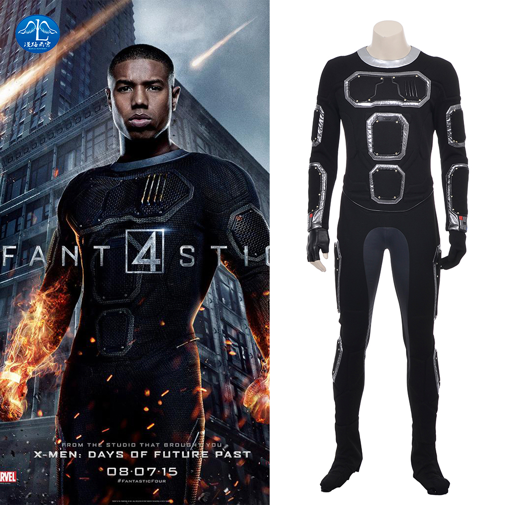 MANLUYUNXIAO Halloween America Movie DC Fantastic Four Costume The Human Torch Cosplay Costume For Men Custom Made High Quality