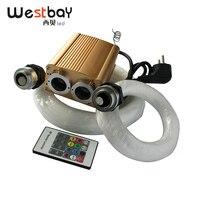 Westbay 32W RGB LED Optical Fiber Lights Kit Fiber Optic Star Ceiling Light Kit 200pcs*0.75mm 200pcs*1.0mm Optic Fiber