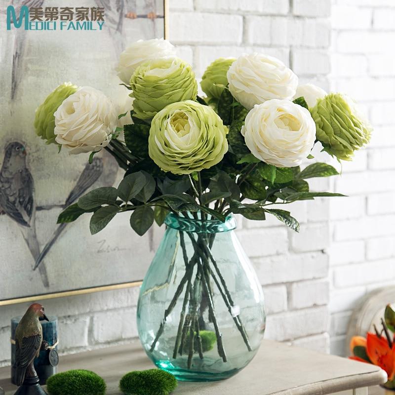 54f4f432818 Melaleuca grande fleurs roses haut de gamme fleurs de style Européen fleurs  artificielles simulation fleurs salon fleurs de Soie affichage