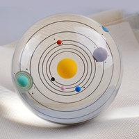 80mm Diameter Solar System Crystal Ball Glass Craft Globe Miniature Home Decor Ornament Accessories Birthday Gift