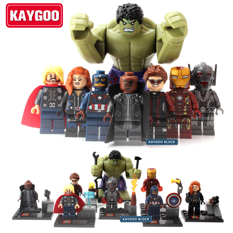 KAYGOO SuperHeros Marvel Avengers military figures Building Blocks Sets Kids toy Bricks deadpool friends spiderman Hulk Batman