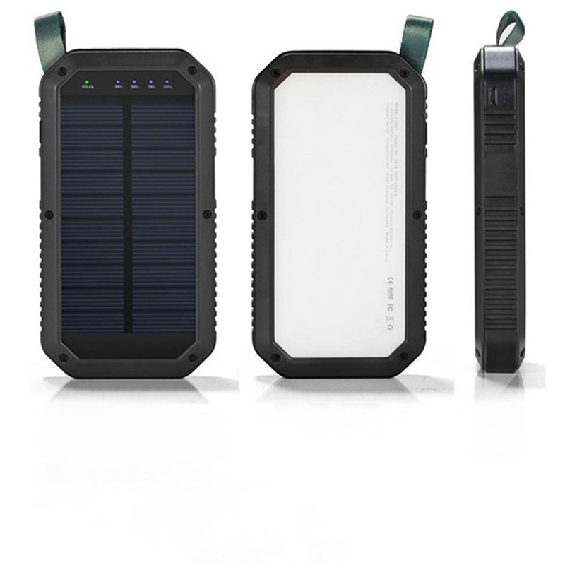 21 LED 8000mAh Portable Solar Powered Camping Light 3 USB Mobile Power Bank for iPhone/ipad/Android kabo a5 2600mah portable power bank w strap for iphone 5 htc samsung black