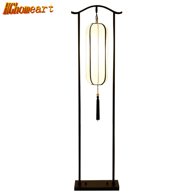 Chinese Style Retro Floor Lamp Living Room Bedroom Bedside Vertical Table Lamp Classical Simple Hotel Room Engineering Lighting