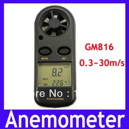 Free shipping Beaufort Wind Anemometer ,digital Anemometer 0.3~30m/s GM816,MOQ=1