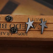 New fashion dropship jewellery Irregular geometric Star Lapel Pins Fine Jewelry Geometry Bowie Star Brooch for women girl(China)
