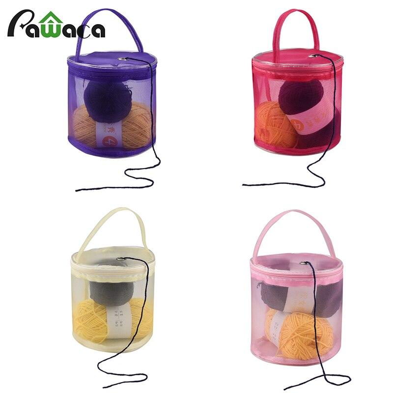 DIY Mesh Yarn Bag Storage Mesh Holder Sewing Kit Bag Baskets Storage Case