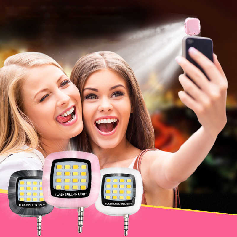 APEXEL Mobile Phone LED Flash Fill Light Portable Rechargeable 16 LED Selfie Lamp For iPhone 6 6S plus Samsung Xiaomi Android