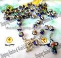 free shipping beautiful cloisonne rosary necklace/religious cloisonne necklace special offer(4color available)
