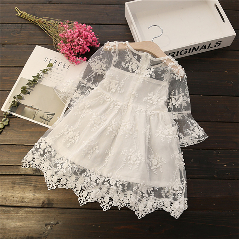HTB1ZUiGaFY7gK0jSZKzq6yikpXaE Girl Dress Kids Dresses For Girls Mesh Casual Lace Embroidery Princess Baby Girl Clothes Summer Sleeveless Dress Kids Clothes