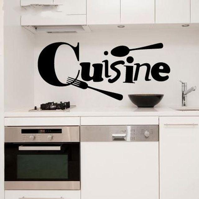 US $4.98 25% OFF Aufkleber küche französisch Vinyl Wandaufkleber Tapete  Aufkleber Blumen dekor wandkunst wand aufkleber abziehbild Küche Wandtattoo  ...