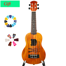21-inch 4 Strings Guitar 12 Frets Musical Instruments Professional Wooden Full Mahogany Classic Acoustic Ukulele Guitar US-ZHTU
