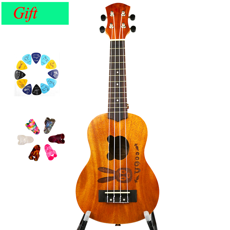UK DREAM 21 pouces pêche Mini ukulélé guitare Hawaii 4 cordes acoustique Robbit motif ukulélé Soprano guitare US-ZHTU
