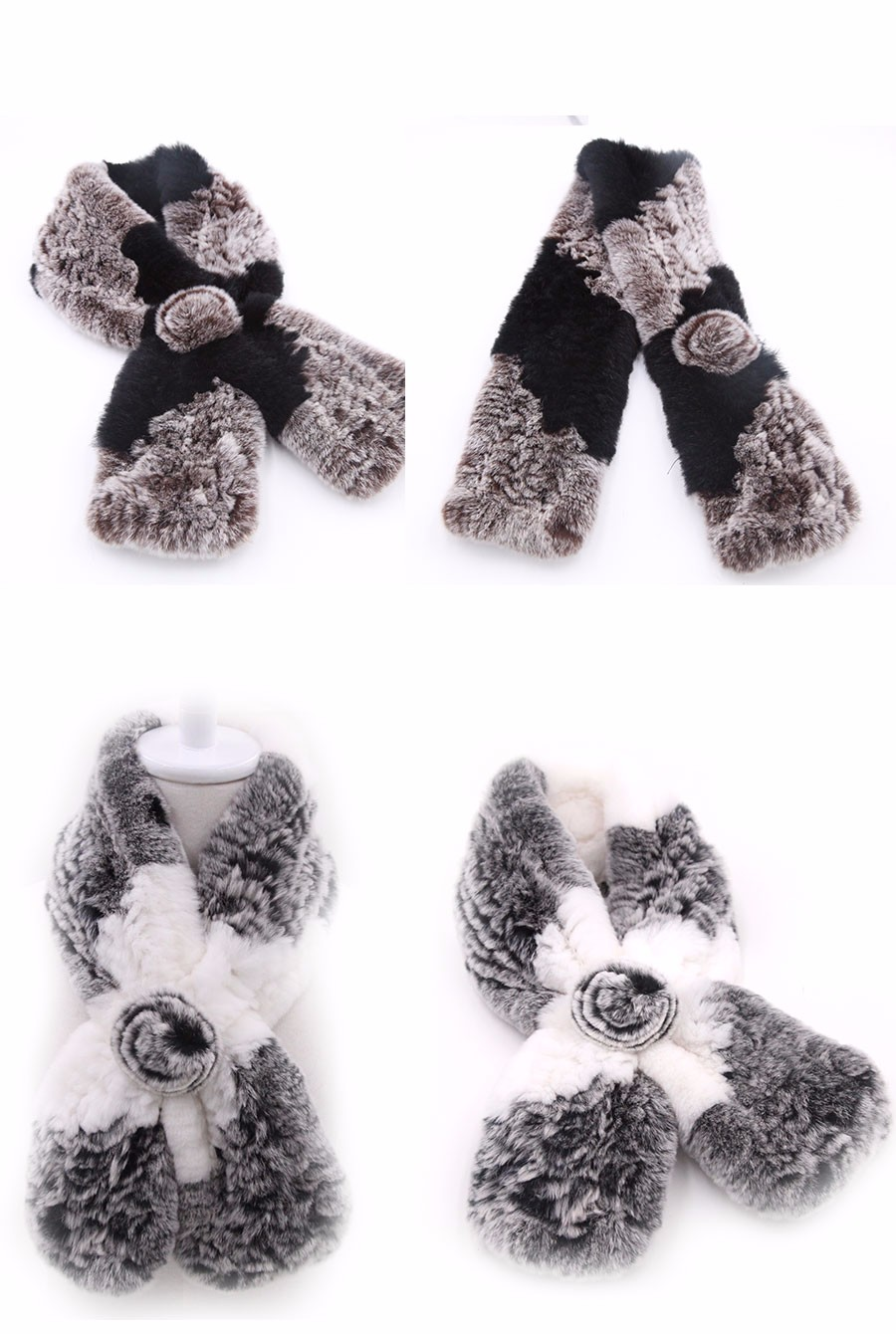 Rose Clip Fur Collar | Neck Scarves | Up to 60% Off Now