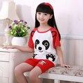Listagem do novo 2017 Summer & Primavera Terno Gilr Bebê Sleepwears Pijama Curto Crianças Pijamas Meninas Dos Desenhos Animados Pijamas Crianças conjunto de Roupas