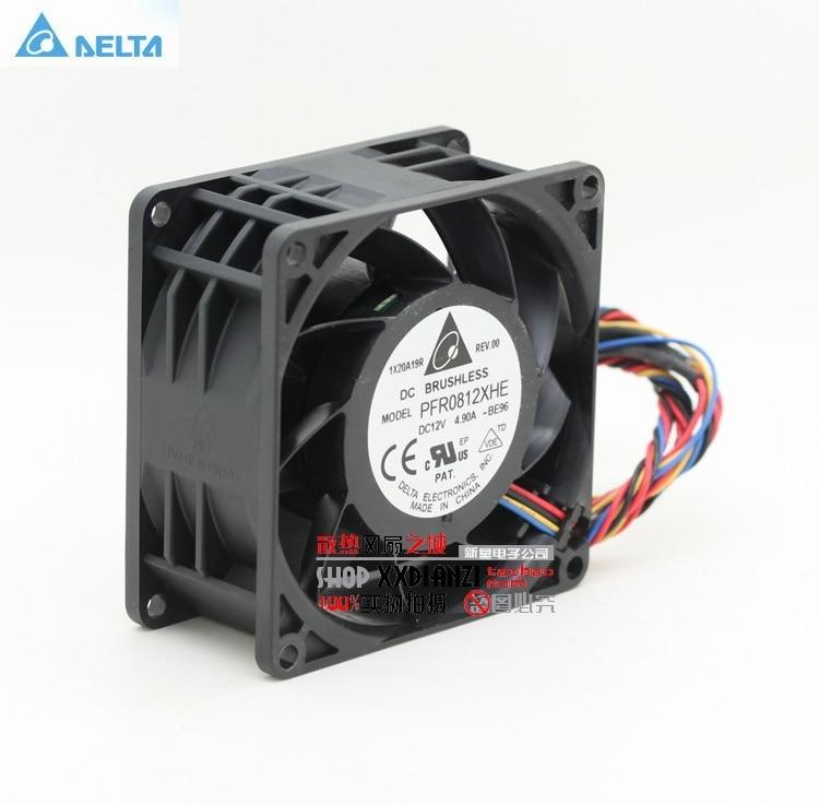 For Delta  Original 8038 Dc12v 8cm Super Car Booster Violent Fan 4.9A PFR0812XHE 13000 80*80*38mm