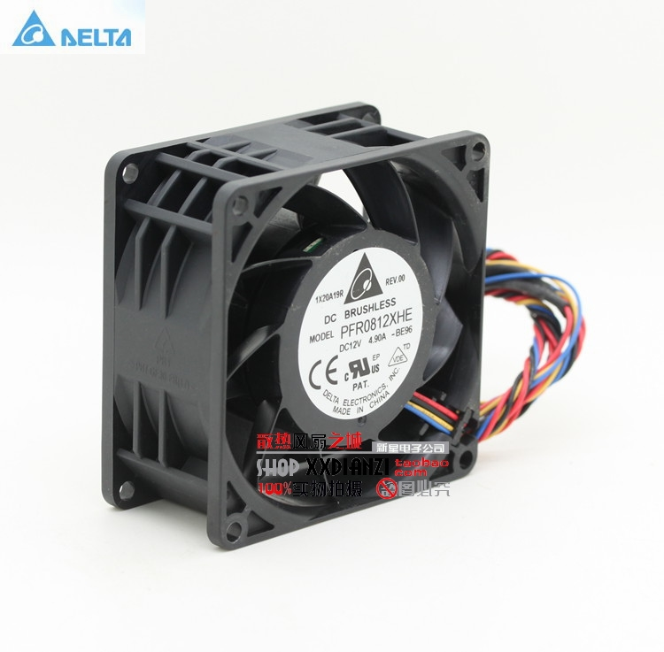 Delta Original 8038 dc12v 8cm súper potenciador de coche violento ventilador 4.9A PFR0812XHE 13000 80 * 80 * 38mm