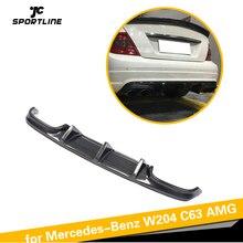 Карбоновое волокно/FRP задний бампер диффузор спойлер для Mercedes-Benz c-класс W204 C63 AMG седан 4 двери только 2008-2011