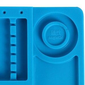 Image 5 - Hittebestendig Solderen Siliconen Mat Voor Warmte Gun BGA Soldeerstation Isolatie Pad Reparatie Tools Onderhoud Platform Bureau